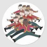 10 Lords a-leaping Round Stickers