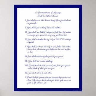 10 mandamientos de la boda póster