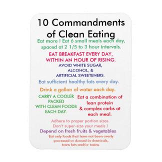 10 mandamientos de la consumición limpia iman rectangular
