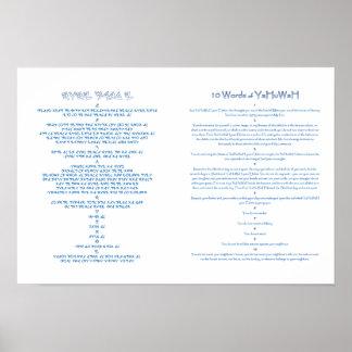 10 mandamientos póster