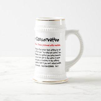 10 maneras de decir si usted es conservador, adver taza de café