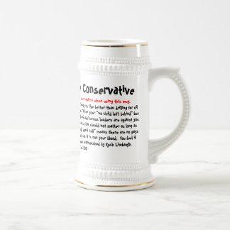 10 maneras de decir si usted es conservador, jarra de cerveza