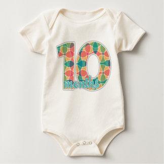 10 meses del jalón de camiseta del bebé mamelucos