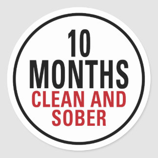 10 meses limpian y calman pegatina redonda