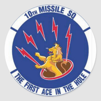 10 Missile Squadron Sticker U.S. Air Force
