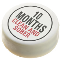 10 Months Clean and Sober Chocolate Dipped Oreo
