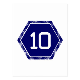 #10 Navy Tek Postcard
