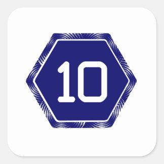 #10 Navy Tek Square Sticker