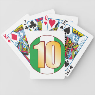10 NIGERIA Gold Bicycle Playing Cards