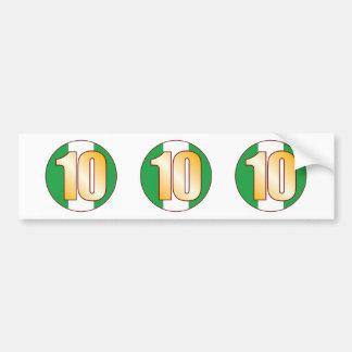 10 NIGERIA Gold Bumper Sticker