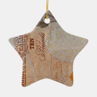 £10 note ceramic ornament