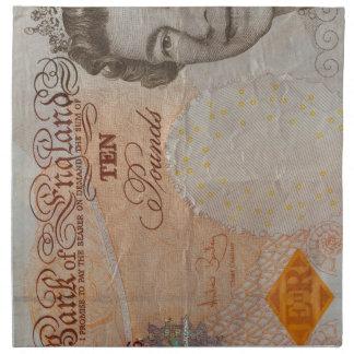 £10 note napkin