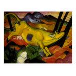 10 october yellow cow postcard