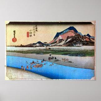 10. Oda Harajuku, Hiroshige Poster