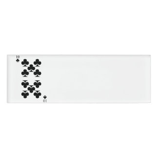 10 of Clubs Name Tag