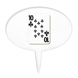 10 of Clubs Playing Card Cake Topper