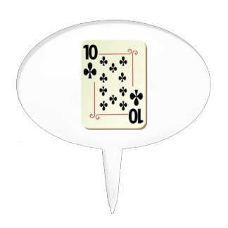 10 of Clubs Playing Card Cake Toppers