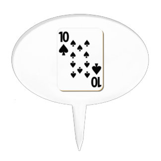 10 of Spades Playing Card Cake Topper
