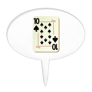 10 of Spades Playing Card Cake Picks