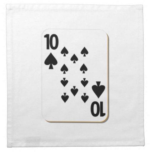 10 of Spades Playing Card Cloth Napkin