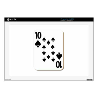 10 of Spades Playing Card Decal For Laptop