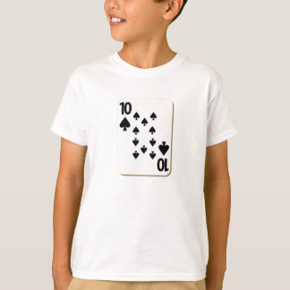 10 of Spades Playing Card T-Shirt