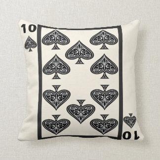 10 of Spades Royal Flush Edition Throw Pillow