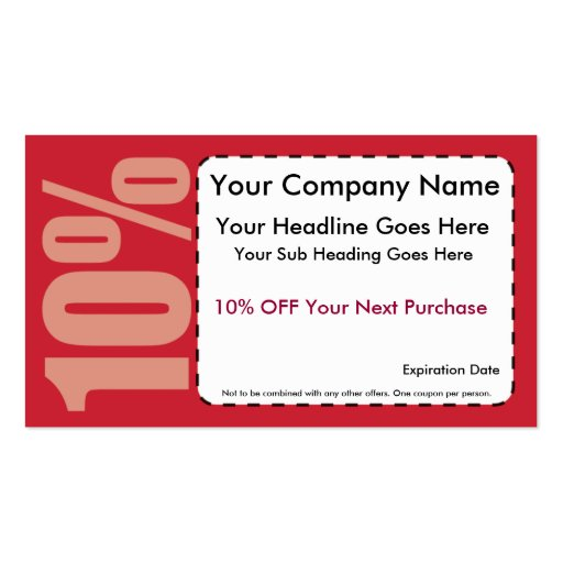 10 off discount coupon template 10 off coupon business cards colourmoves