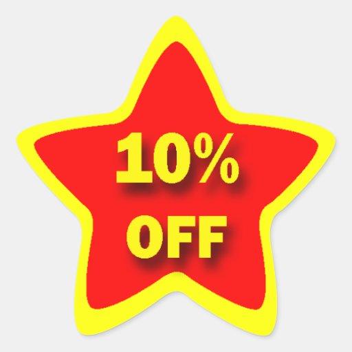 10% OFF Star Sticker