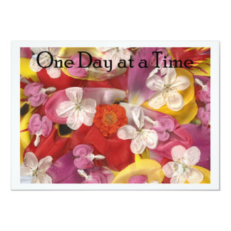 10 One Day At A Time 5x7 Paper Invitation Card