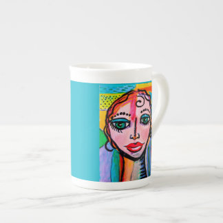10 oz Colorful Porcelain mug. Tea Cup