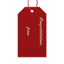 10-Pack of Custom Crimson Gift Tags