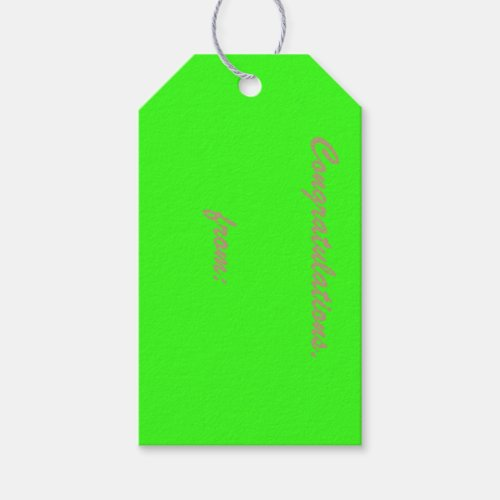 10-Pack of Custom Neon Green Gift Tags
