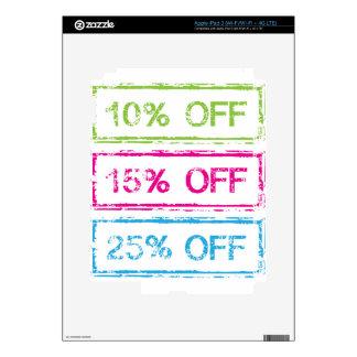 10 Percent Off 15 Percent Off 25 Percent Off Stamp Skin For iPad 3
