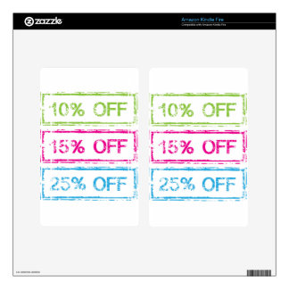 10 Percent Off 15 Percent Off 25 Percent Off Stamp Skin For Kindle Fire