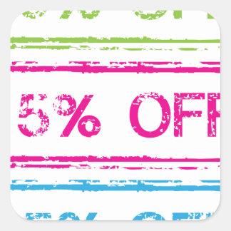10 Percent Off 15 Percent Off 25 Percent Off Stamp Square Sticker