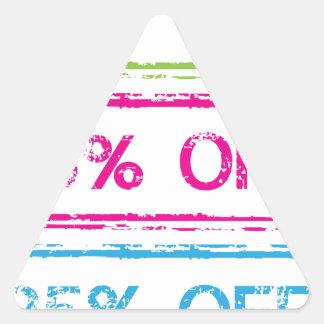 10 Percent Off 15 Percent Off 25 Percent Off Stamp Triangle Sticker