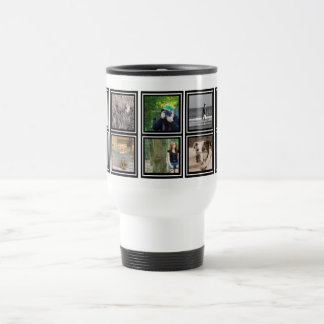 10 Photo Collage | Custom Instagram Modern Travel Travel Mug