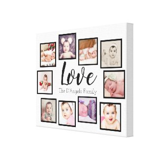 10 Photo Collage Love Family Canvas Print