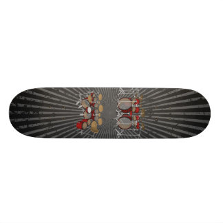 10 Piece Drum Kit: 3D Model: Custom Skateboard