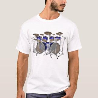 10 Piece Drum Kit: Blue Gradient: White T-Shirt