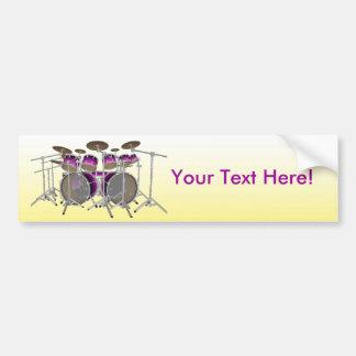 10 Piece Drum Kit: Bumper Sticker Car Bumper Sticker