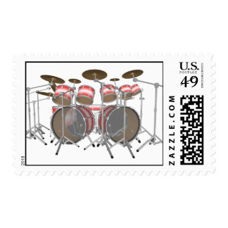10 Piece Drum Kit: Custom Postage Stamps