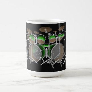 10 Piece Drum Kit: Green Gradient: Coffee Mug