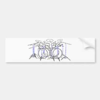 10 Piece Drum Kit: Marker Drawing: Bumper Sticker
