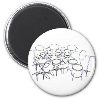 10 Piece Drum Kit: Marker Drawing: Magnet