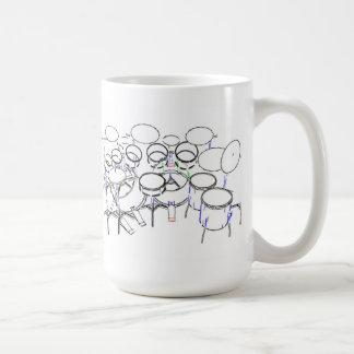 10 Piece Drum Kit: Marker Drawing: Mug