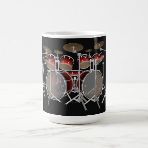 10 Piece Drum Kit: Red Gradient: Coffee Mug