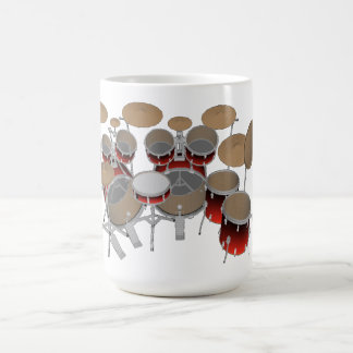 10 Piece Drum Kit: Red Gradient: Coffee Mug