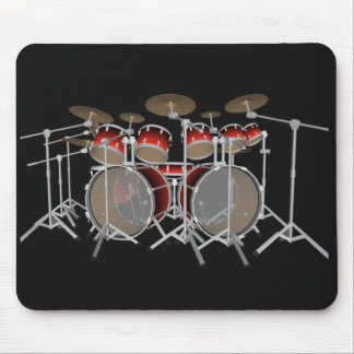 10 Piece Drum Kit: Red Set: Drums Mousepad